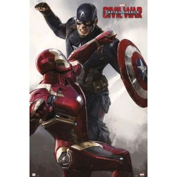 Plakat Kapitan Ameryka: Wojna bohaterów -  61,5X91