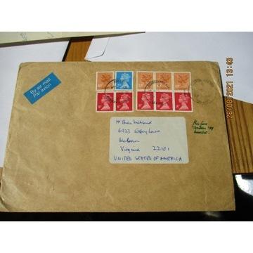 koperta ANGLIA znaczki x 10