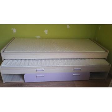 LORENTO L16 łóżko podwójne wysuwane z 2 materacami