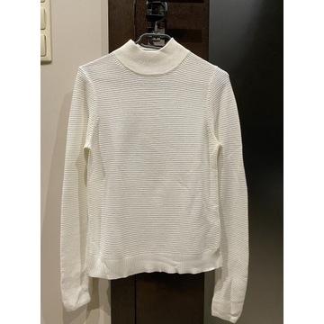 Golf sweter półgolf Marks&Spencer 36 S biały