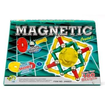 Klocki Magnetyczne ZIELONY ZESTAW 96el.