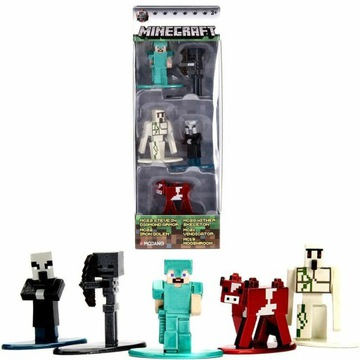 Figurki metalowe MINECRAFT NANO METALFIGS 5PAK