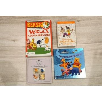 4 Książki dla dzieci * Reksio * Kubuś Puchatek