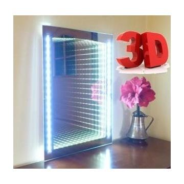 Lustro weneckie podświetlane LED efekt 3D kolor
