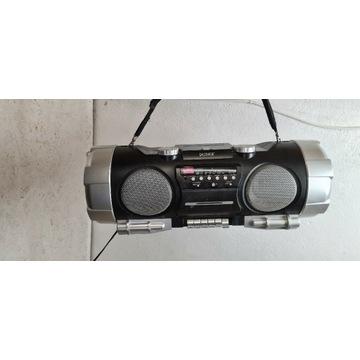 Boombox denver TCD-86 radio na baterie cd kasety