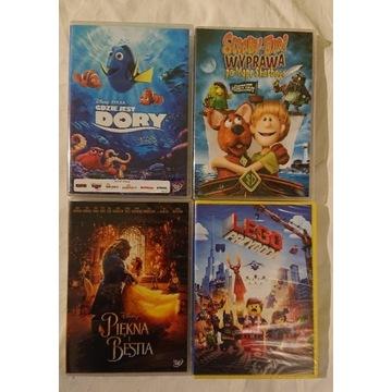 Piekna i bestia,dory,scooby do,lego 4 x dvd