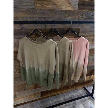 Bluza farbowan by o la la M odcienie beżu nowosc