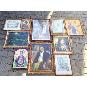 Obrazy złote ramki 10 szt. Maria pejzaże portrety