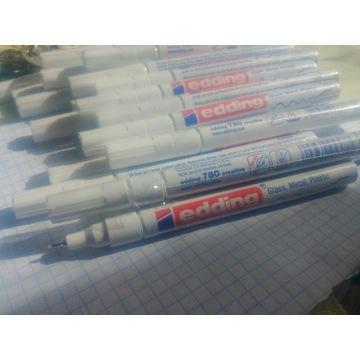 Marker edding 780 0.8mm bialy, zloty