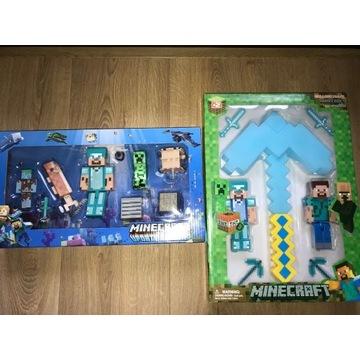 Duży zestaw figurki minecraft  Steve + kilof