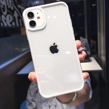 Przezroczyste Etui(Biały) -iPhone 12pro-HIT!!!