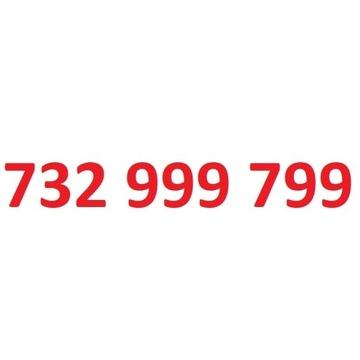 732 999 799 starter play ładny złoty numer
