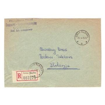 Góra Śląska - Koperty polecone z lat 1966-72