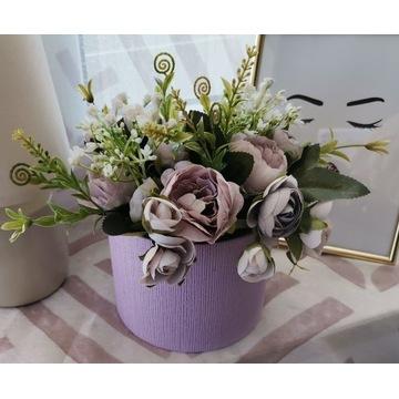 Róże Jaskry Flowerbox Kwiaty w pudełku Dzień Matki