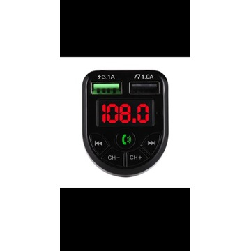 Transmiter Bluetooth FM MP3  Ładowarka 2xUSB