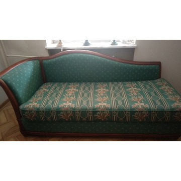 Kanapa szezlong z funkcją spania i fotel