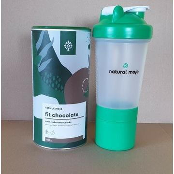 NATURAL MOJO SHAKE - Zestaw Fit Chocolate + shaker
