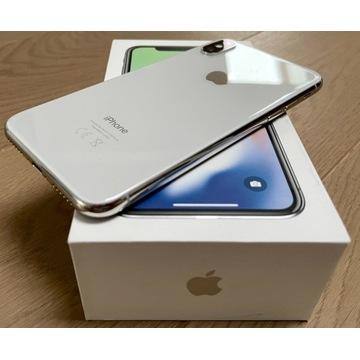 IPhone X 256GB Silver MQAG2PM/A [stan idealny,kpl]