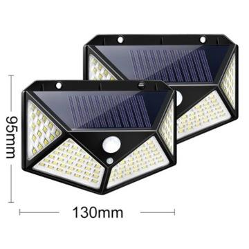 Dwie lampy LED z czujnikiem ruchu 100LED