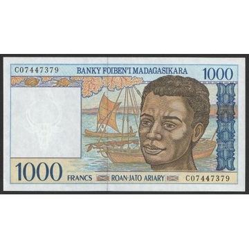 Madagaskar 1000 franków 1994 - C07 - stan UNC