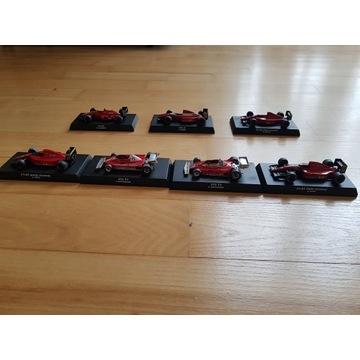 F1 Ferrari kolekcja 7 modeli 1:64