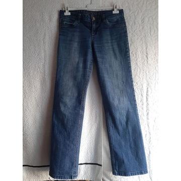 Spodnie męskie granatowe jeans bootcut s. Oliver