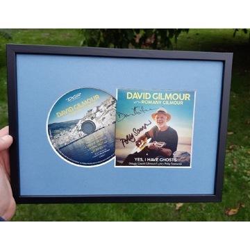 David Gilmour PINK FLOYD. Autograf w ramie!