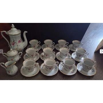 serwis kawowy WAŁBRZYCH PRL porcelana zastawa 12os