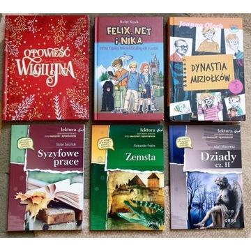 Lektury do klas 6-7 szkoły podstawowej (6 książek)