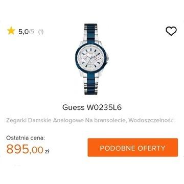 """GUESS Oryginalny damski zegarek typu """"boyfriend"""""""