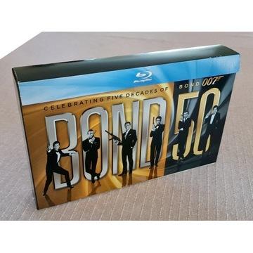 007 James Bond. 50-lecie.  Kolekcja (23 Blu-ray +