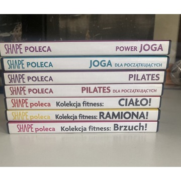 Shape Poleca DVD x7 yoga, pilates, ciało, brzuch
