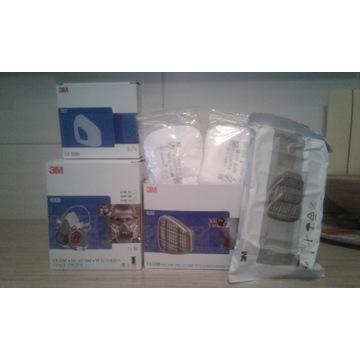 Zestaw maska 3M pochłaniacze filtry pokrywy+gratis
