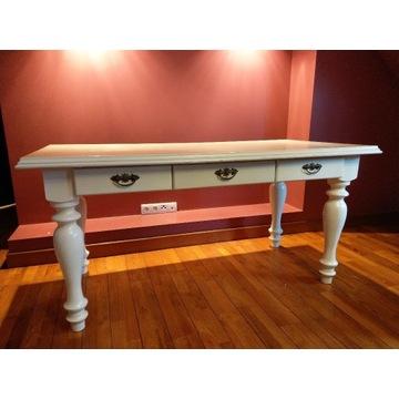Biurko, stół, białe, drewniane