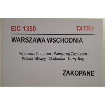 Tablica relacyjna EIC Tatry PKP IC Intercity