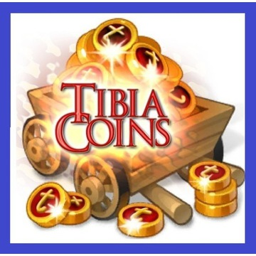 Tibia 25 Coins TC coin PELORIA Pacera PREMIA Pyra