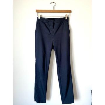 Eleganckie, granatowe spodnie ZARA S