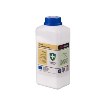 Kwas L-askorbinowy Czysty. Witamina C 1kg Biomus