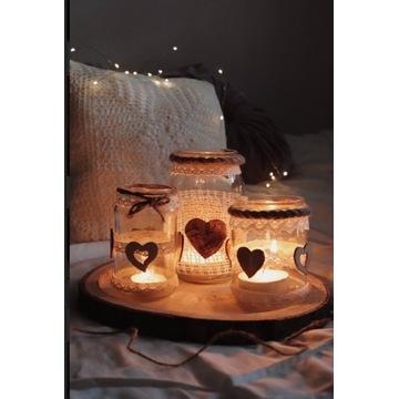 Boho świeczniki - rękodzieło