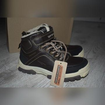 Buty sprandi chłopięce 33 nowe trapery zimowe ccc