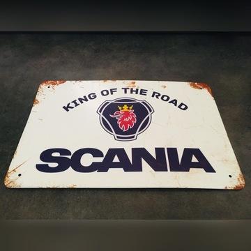 SCANIA metalowa tabliczka - samochód - garaż KING