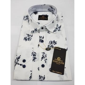 Męska koszula KUDI nowa L casual Slim Fit