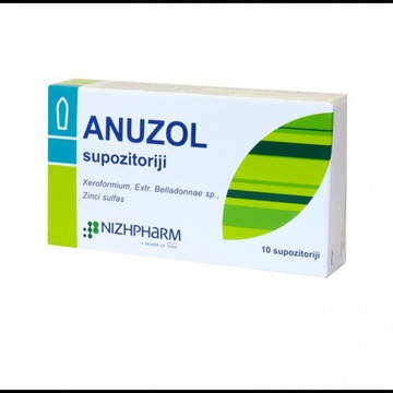 ANUSOL pain relief Hemorrhoids Suppositories 20 pc