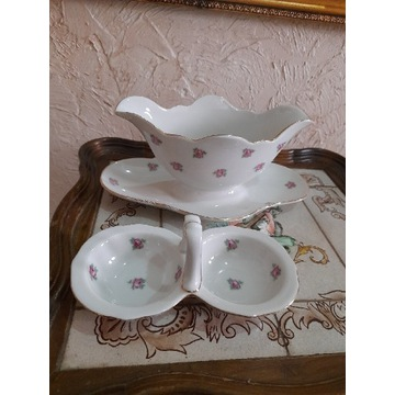 Serwis porcelanowy Stara Bavaria w różyczki