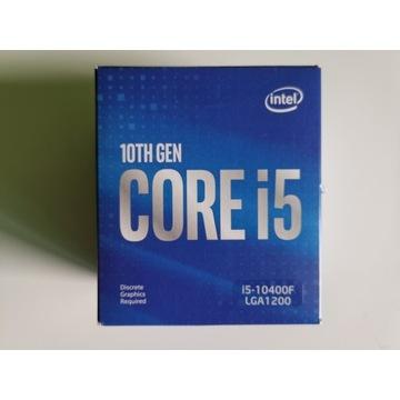 Procesor intel i5-10400F LGA1200 CPU 12 wątków BOX