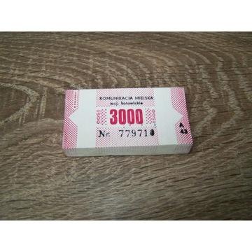 Stare bilety Katowice,nie kasowane około 100 szt.