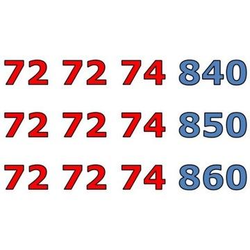 72 72 74 8x0 ŁATWY ZŁOTY NUMER STARTER x 3