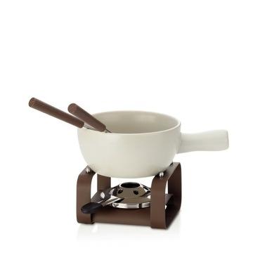Serowy zestaw do fondue Henrik ceramika