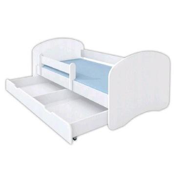 Łóżko dziecięce 160x80 biale z.szuflada i materac