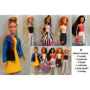 """Ubranka dla Barbie zestaw ubrań  """"A"""""""